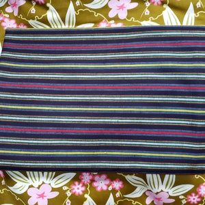 Vintage Lightweight Cotton Striped Fabric 3y